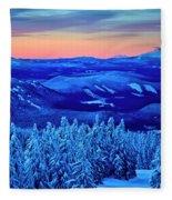 Morning From Timberline Lodge Fleece Blanket