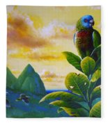 Morning Glory - St. Lucia Parrots Fleece Blanket