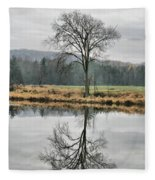 Morning Haze And Reflections Fleece Blanket