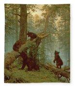 Morning In A Pine Forest Fleece Blanket