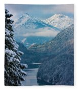 Morning In Bavaria Fleece Blanket