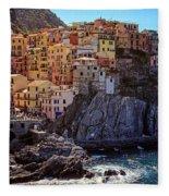 Morning In Manarola Cinque Terre Italy Fleece Blanket