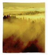Morning In Spokane Fleece Blanket