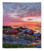Morning In The Archipelago Sea Fleece Blanket