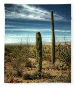 Morning In The Sonoran Desert Fleece Blanket