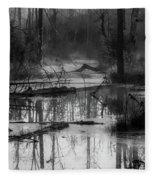 Morning In The Swamp Fleece Blanket
