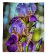 Morning Iris Fleece Blanket