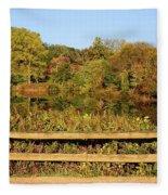 Morning Landscape In The Park Fleece Blanket