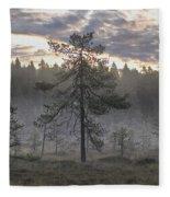Morning Light At Saari-soljonen 7 Fleece Blanket
