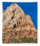 Morning Light In Zion Canyon Fleece Blanket