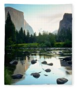 Morning Light On El Capitan Fleece Blanket