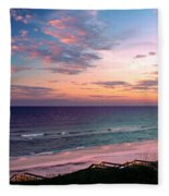 Morning Light On Rosemary Beach Fleece Blanket