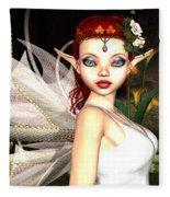 Morning Lily Fairy Fleece Blanket
