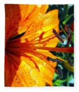 Morning Lily Fleece Blanket