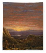 Morning Looking East Over The Hudson Valley From The Catskill Mountains Fleece Blanket