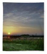 Morning Marsh Fleece Blanket
