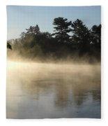 Morning Mist Glowing In Sunlight Fleece Blanket