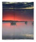 Morning Mist - Florida Sunrise Fleece Blanket