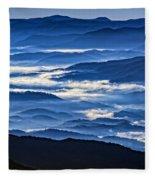 Morning Mist In The Smokies Fleece Blanket