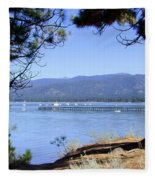 Morning On Lake Tahoe Fleece Blanket