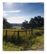 Morning On The Farm Fleece Blanket