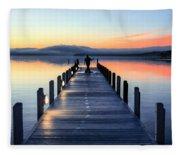 Morning Pier Fleece Blanket