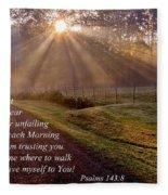 Morning Psalms Scripture Photo Fleece Blanket