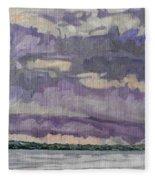 Morning Rain Clouds Fleece Blanket