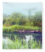 Morning River In Old Dutch Village Fleece Blanket