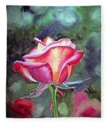 Morning Rose Fleece Blanket