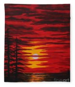 Morning Sky Fleece Blanket