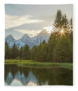 Morning Sun At Schwabachers Landing Fleece Blanket