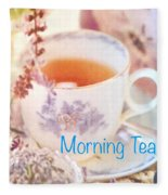 Morning Tea Fleece Blanket