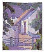 Morning, The South Downs By Robert Polhill Bevan Fleece Blanket