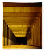 Morning Under The Bridge Fleece Blanket