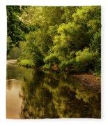 Morning Warmth Williams River  Fleece Blanket