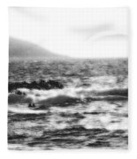 Morning Waves - Bw Diffused 04 Fleece Blanket