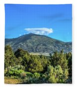 Morning View Of Albion Mountains Fleece Blanket