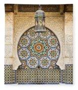 Moroccan Fountain Fleece Blanket