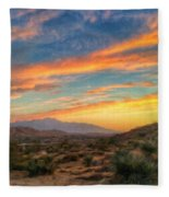 Morongo Valley Sunset Fleece Blanket