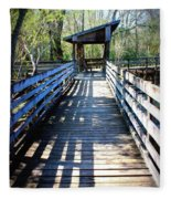 Morris Bridge Boardwalk Fleece Blanket