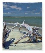 Morris Island Driftwood Fleece Blanket