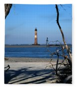 Morris Island Lighthouse Charleston Sc Fleece Blanket