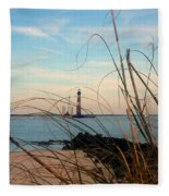 Morris Island Lighthouse In Charleston Sc Fleece Blanket