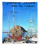Morro Rock Morro Bay California Fleece Blanket