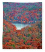 Morrow Mountain Overlook Fleece Blanket