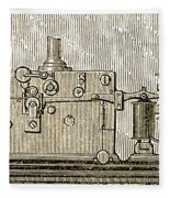 Morse Telegraph Machine, 1889 Fleece Blanket