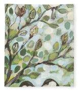 Mo's Chickadees Fleece Blanket