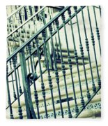 Mosaic And Iron Staircase La Quinta California Art District In Mint Tones Photograph By Colleen Fleece Blanket