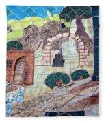 Mosaic Art At Petra Fleece Blanket